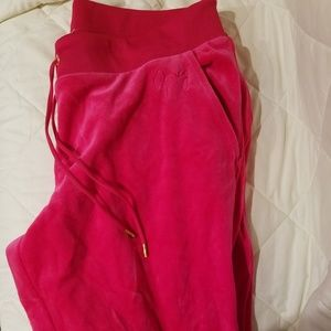 Juicy Couture, NWOT Joggers, LG, Hot Pink
